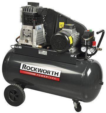 kompressor rockworth 4 0 hk 90 liter linolie 1 2 3. Black Bedroom Furniture Sets. Home Design Ideas
